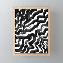 Bold Ink Stripes in Black and White Framed Mini Art Print
