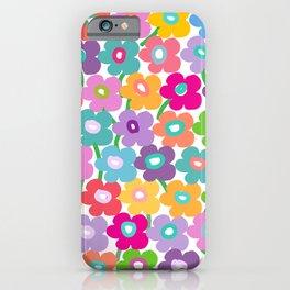 Hippy Dippy Happy Flowrs iPhone Case