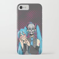 vocaloid iPhone & iPod Cases featuring Vocaloid - Even Cuter Under Here by Tigers and Daises (LadyBeemer)
