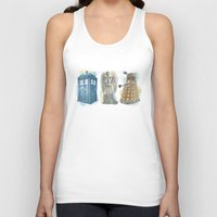 dr who Tank Tops featuring Dr Who by Iris Illustration
