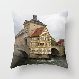 Rathaus Bamberg Throw Pillow