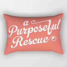 A.P.R. Logo (coral) Rectangular Pillow