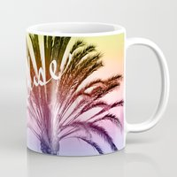 paradise Mugs featuring Paradise  by Lisa Argyropoulos