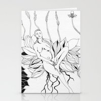 persona Stationery Cards featuring Planting Persona by tatteredjeannestune