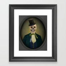 Skull Art - Mister Hinch Framed Art Print