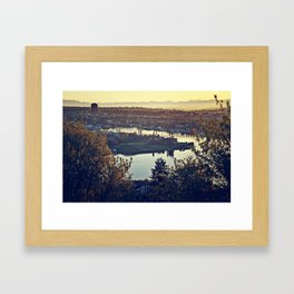 Gasworks at Dawn Framed Art Print