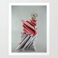 origami Art Prints featuring Origami by kourai