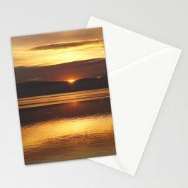 lake ohrid november sunset Stationery Cards