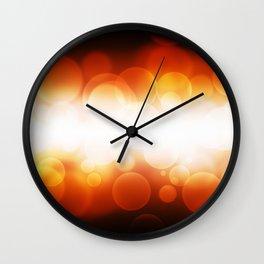 banner of orange defocus light Wall Clock
