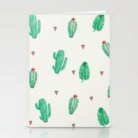 cactus Stationery Cards featuring CACTUS by Ceren Aksu Dikenci
