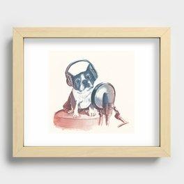 Dog Music Recessed Framed Print