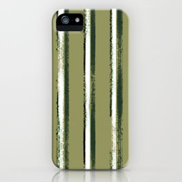 Vertical painted stripes iPhone Case