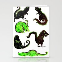 dinosaurs Stationery Cards featuring dinosaurs by Lara Paulussen