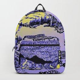 Mountain Cabin Sunrise Backpack