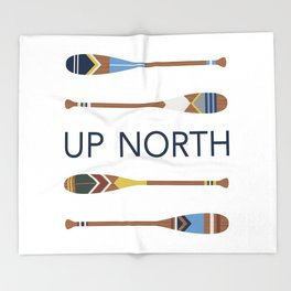 Up North Oars Throw Blanket
