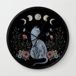 Cat on the Hill Wall Clock