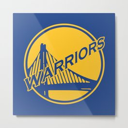 Golden State blue basketball logo Metal Print