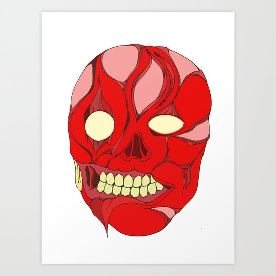 Naked Face Art Print