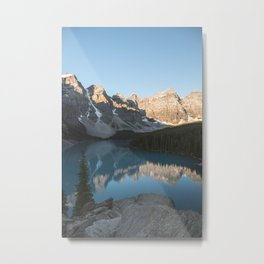 Moraine Lake Mountain Views Metal Print