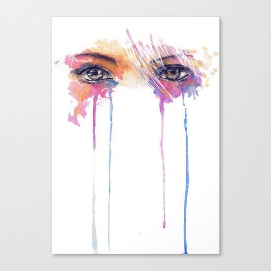 Rainbow Tears Canvas Print