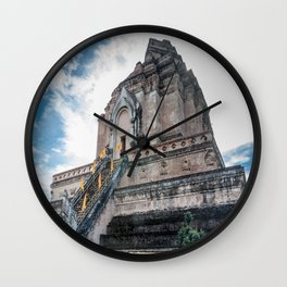 The Chedi of Wat Chedi Luang_Thailand Wall Clock