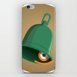 bell clapper glance iPhone Skin