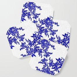 BLUE AND WHITE  TOILE LEAF Coaster