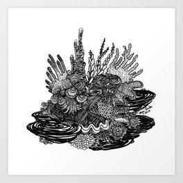 Hidden Cuttlefish Art Print