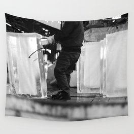 Unloading Ice, Tokyo, Japan Wall Tapestry