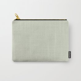 Pale Meadow Green Solid Color Parable to Pale Pastures 5006-3A by Valspar Carry-All Pouch