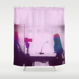 Audio, Video, and Everything in Between Shower Curtain