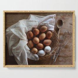 Farmhouse Fresh Eggs Serving Tray