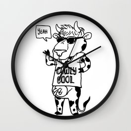Cowly Cool Wall Clock