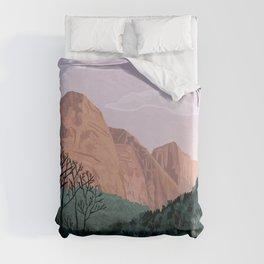 Zion National Park, Utah, USA Illustrated National Parks Duvet Cover
