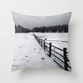 Winter In Flagstaff Throw Pillow