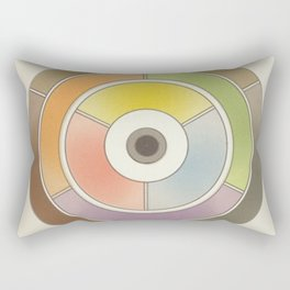 The theory of colouring - Diagram of colour by J. Bacon, 1866, Remake, vintage wash (no text) Rectangular Pillow