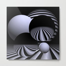 black-and-white -05- Metal Print