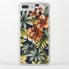 Floral V1 Clear iPhone Case