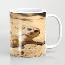 Meerkat Suricat suricatta Sunbathing #decor #society6 Coffee Mug