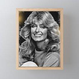 Farah Fawcett Sand Framed Mini Art Print