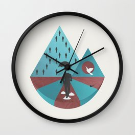 """Ceci n'est pas Magritte."" Wall Clock"
