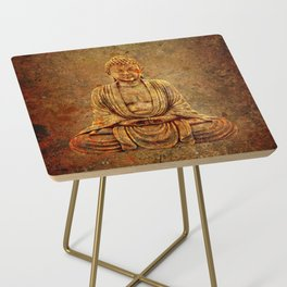 Sand Stone Sitting Buddha Side Table