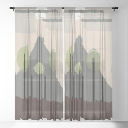 Forest Regrowth Abstract Landscape Sheer Curtain