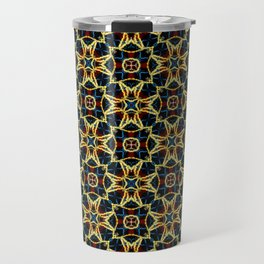 Beautiful Beadwork Inspired Geometric Pattern Travel Mug