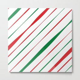 Christmas Stripes Metal Print