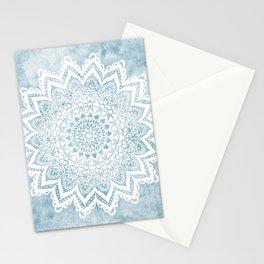 LIGHT BLUE MANDALA SAVANAH Stationery Cards