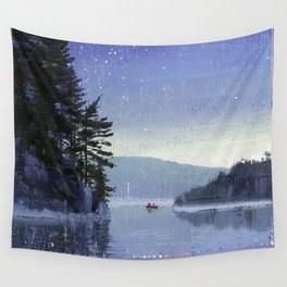 rocky cliff Wall Tapestry