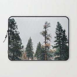 Snow Capped Pine Trees Laptop Sleeve