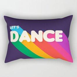 RAINBOW DANCE TYPOGRAPHY- let's dance Rectangular Pillow