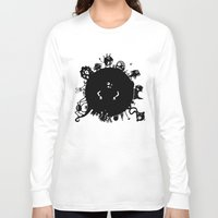 aliens Long Sleeve T-shirts featuring Aliens On Aliens! by Aaron Lin